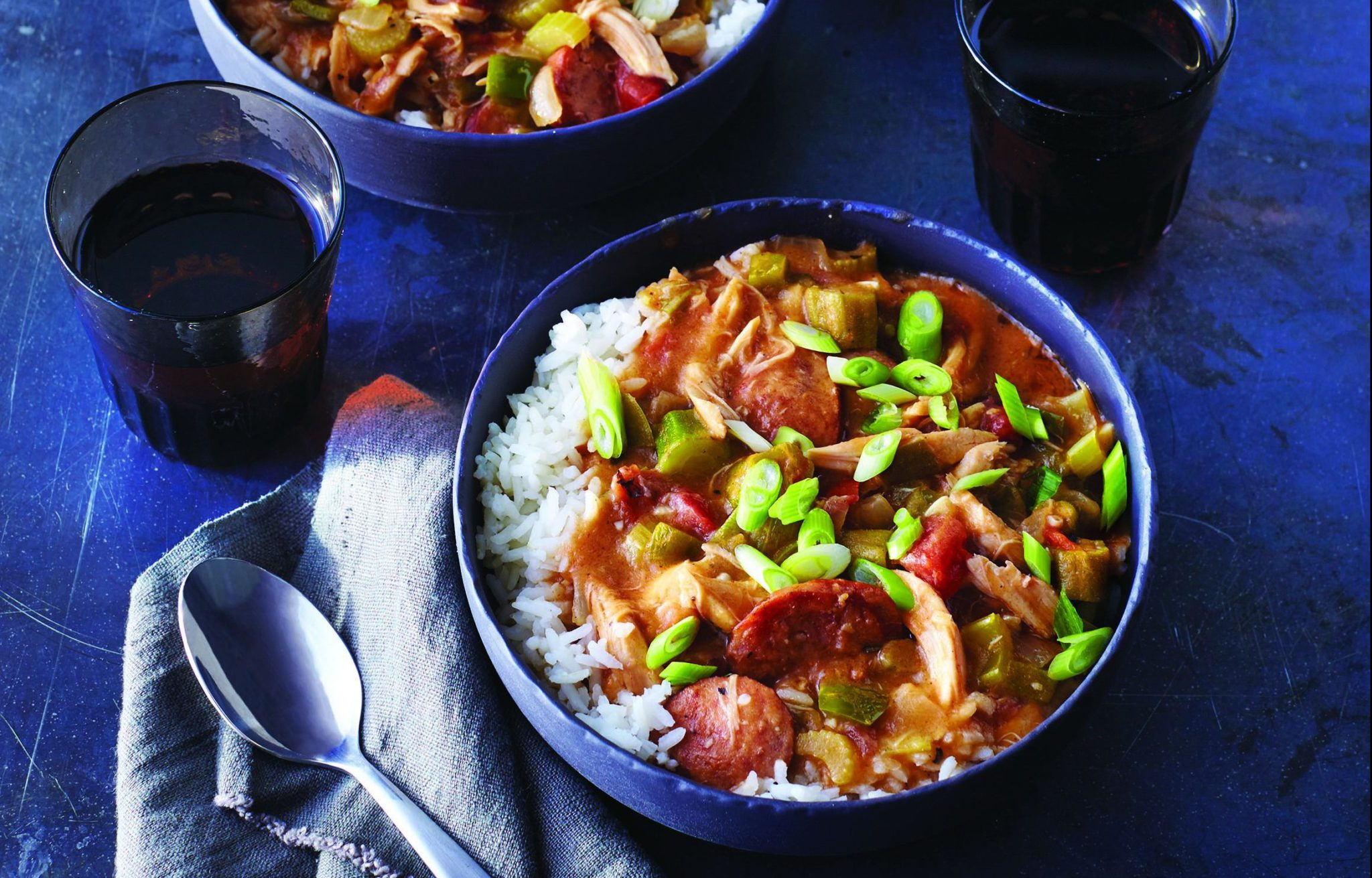 Quick Rotisserie Chicken Gumbo