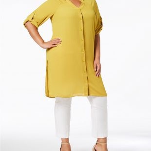 Roll-Tab Tunic Shirt  Macy's