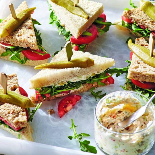 Bloody Mary Tea Sandwiches