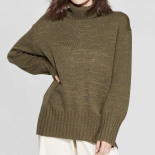 Dolman Sleeve Turtleneck Tunic Sweater  Target