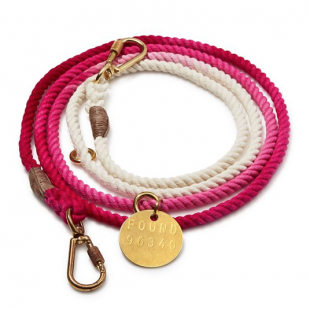 FOUND MY ANIMAL Magenta Ombré Cotton Rope Dog Leash, Bloomingdales