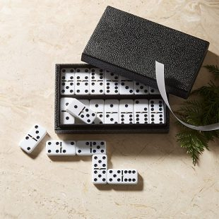 Shagreen Domino Set  CB2