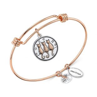 Unwritten Two-Tone Time Spent With Cats Adjustable Bangle Bracelet, Macy's